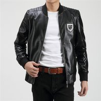 Wholesale 2016 Men Autumn And Winter cotton PP Brand PHILIP PLEIN High quality Leather Jackets Coat Casual Men Clothing Brand clothing Jacket9302