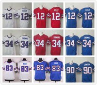 andre white - Jim Kelly Thurman Thomas Andre Reed Jersey New Elite Stitched US Football Buffalo Jerseys Home Away White Purple Black
