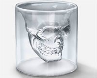 beer snifter glass - Doomed Crystal Skull Shotglass Cups Head Vodka Shot Glass Cup Beer Wine Whisky Mug Drinkware ML Ounces Kitchen Dining Bar jy225