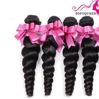 achat en gros de remy hair extentions weft-4pcs Lots Loose Wave Brazilian Virgin Hair Weft 100% Extension de cheveux humains Brazilian Brazilian Loose Weavy Weave Remy Hair No smell Tangle