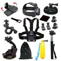 Wholesale 15 in Accessories Kit for GoPro Hero SJ4000 SJ5000 SJ7000 Xiaoyi Gopro Sports Camera Accessories Set