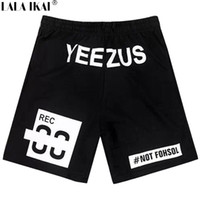 Wholesale Yeezus Printed Men Shorts HBA Hip Hop Swag Kanye West Mens Shorts Famous Brand Joggers Shorts Streetwear New