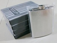 Wholesale 50pcs Fedex DHL FreeShipping Protable Pocket oz ml Stainless Steel Hip Flask With Metal Screw Cap