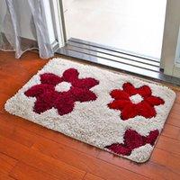 beautiful bath rugs - 50 cm Beautiful Kitchen Carpet Printed Flower Doormat Non slip Bath Rugs