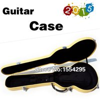 Wholesale High Quality Electric Guitar Hardcase in Yellow for G LP Custom Standard ST TL Styles Guitar