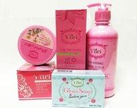 Wholesale Yuri Whitening Set White lotion White cream GlutaSoap SuncreenSPF50 Perfect mask free ship