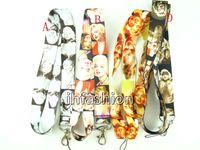 Textile marilyn monroe - Popular cartoon anime Marilyn Monroe DIY Phone lanyard Keychain straps charms children boy girl women man Gifts