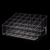 Wholesale Clear Acrylic Lipstick Holder Display Stand Cosmetic Organizer Makeup Case