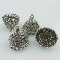 beads connectors - 18450 X Antique Filigree Connector Tassel Bead End Cap Hollow Garland Pendant