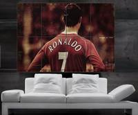 Wholesale CR7 Cristiano Ronaldo Real Madrid and Portugal Poster print wall art parts giant hug NO161