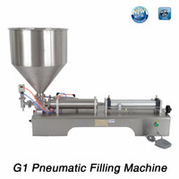 Wholesale G1 stainless steel horizontal pneumatic paste automatic filling machine high viscosity paste filling machine V ml ml