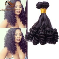 Wholesale Unprocessed Aunty Funmi Hair Spring Curl Cheap Bouncy Romance Curls Virgin Brazilian Fumi Human Hair Weave Bundles With Lace Closures Piece