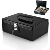 Wholesale 7 Compartment Tray Cashier Drawer Money Bills Safe Cash Box Locking Latch
