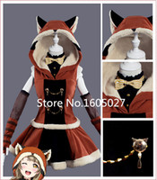 Wholesale Hot Sell Love Live Minami Kotori Raccoon Animal Awaken Hallowmas Dress Uniform Suit Cosplay Anime Costume S L