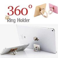 apple ipad cards - Universal Degree Metal Stent Ring Holder Finger Grip Hook Sticker Car Card Holder For iPhone iPad Samsung LG Tablet Smartphone