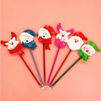 Wholesale 2016 Hot s Styles Christmas Cute Gift Santa Claus Snowman Pens For Kids