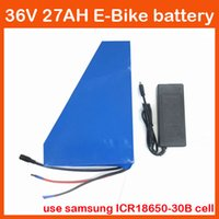 Wholesale 1000W V Triangle battery V AH Electric Bike V Lithium battery pack Use samsung mah cell With A BMS V A charger