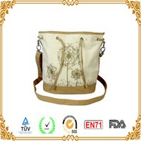 Wholesale 2016 OEM BAG x15x40cm BEIGE PRINTING SHOULDER BAG WITH POPULAR STYLE AND LOGO IN XIAMEN CHINA TESTING