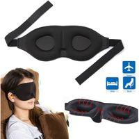 Wholesale Popular Comfort Healthful Sponge Travel D Rest Sleeping Eyeshade Eye Mask Memory Foam Padded Shade Cover Blindfold