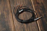 Wholesale 10 Good quality m DIY Headphone repair black transparent headset replace Line audio cable earphone