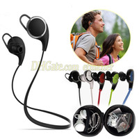 Cheap QY8 Bluetooth Headset Wireless Stereo Music Earphone With Retail Package For Mobile Phone HTC LG Samsung