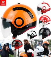 bicycle helmet xl - 2016 New Summer YOHE double lenses half face motorcycle helmet young men and women fashion MINI Electric bicycle helmets made of ABS