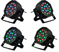 Wholesale RGB LED Par Light X3W V V Stage Effect Lighting Bulbs with DMX512 Equipment Function for DJ Disco Wedding Party Decoration CE ROSH