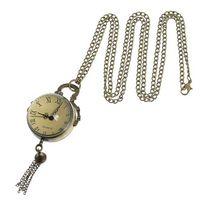ball watch straps - 2016 New PC Pocket Watch Quartz Crystal Ball Pattern Bronze Tone cm ball watch strap