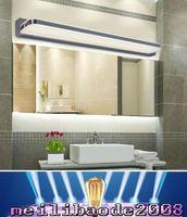 ac crystal acrylic - NEW W W W LED Mirror Light AC V Modern Cosmetic Acrylic Wall lamp Bathroom Lighting Waterproof Fog proof For Bathroom Bedroom MY
