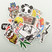 Wholesale 50Pcs Pack Mixed Stickers Skateboard Cartoon Graffiti Vintage Laptop Luggage Car Macbook Case Guitar Decals Vinyl