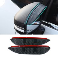 accord mirror - Car Styling Carbon rearview mirror rain eyebrow Rainproof Flexible Blade Protector Accessory For HONDA ACCORD Crosstour