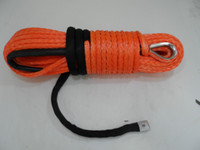 atv winch parts - Orange quot ft UHMWPE winch rope spectra rope for auto parts synthetic rope for ATV winch accessary