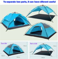 Wholesale Two useful Waterproof Outdoor summer sun shade UV tent luxury cotton canvas Camping Tent Outdoor Camping Fishing Shade Tents Beach Tent