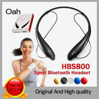 Wholesale HBS800 Wireless Bluetooth sport headset Neckband Style With MIC Bass Headphones Earphone with stereo HiFI NFC for iPhone Se