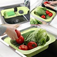 bamboo flooring brands - New Brand Fashionable Scalable Dish Rack Kitchen Shelf Vegetable Drain Grid Kitchen Tool E5M1