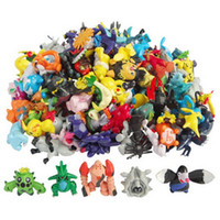 Wholesale 2 CM Po kemon Toys Mix Style New Cute Cartoon Monster Mini Figures Toys Brinquedos Action Figure Pi ka chu Toys