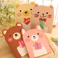 bear notepads - Korean cartoon creative stationery office supplies school notebook Cute Cartoon Bear Filofax notebook diary students