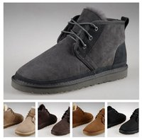 beckham boots - Men Snow Boots New Brand Winter Wool Beckham The same paragraph men gray Ankle Boots Casual Boots Warm Boots US Size
