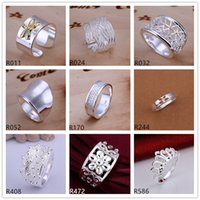 Band Rings Asian & East Indian Unisex Factory direct sale sterling silver ring 10 pieces a lot mixed style EMR12,hot sale high grade fashion 925 silver ring