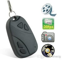 Wholesale MINI SPY CAR KEY HIDDEN CAMERA KeyChain Digital CAM Chain DV DVR WebCam Camcorder Video Recorder