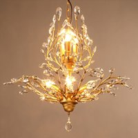 american energy sources - American Style led chandeliers crystal lamps E14 light source with light source energy saving easy installation CE ROHS FCC