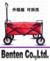 beach cart folding - Folding Collapsible Utility Wagon Garden Cart Shopping Buggy Yard Beach Blue Red LLFA