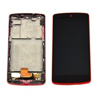 Wholesale For Google Nexus LG D820 D821 LCD Display Touch Digitizer Screen Assembly with Red Frame Parts