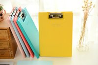 Wholesale New school term stationery cute file holder A5 Organize your files Solid color various color Practical mat