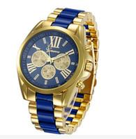 alloy steel grades - Fashion Mens Geneva Quartz Watches High Grade Steel Three Male Watches Stainless Steel Round Analog Wristwatches Luxury Business Watch