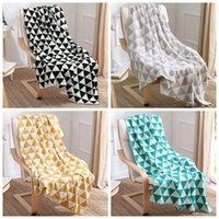 acrylic fleece - LJJG126 cm Super soft triangle pattern crochet nap blanket children kids baby Swaddle Wrap soogan Fleece blanket throw blanket