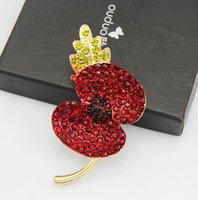 big kate - European and American big red drops Kate glazed poppy custom limited edition commemorative flower brooch hot models