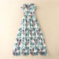 beautiful perspective - 2017 European Style Luxury New Heavy Beautiful Small Flower Embroidery Short Sleeved Sexy Perspective Long Maxi Dress