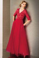Reference Images best price formal dress - 2015 Best Price Women Dresses Sheer Formal Dresses A line V neck Red Net Tulle Long sleeve Transparent Backless Evening Dresse