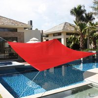 Wholesale 18 x18 Deluxe Square Sun Shade Sail UV Top Outdoor Canopy Patio Lawn Red New